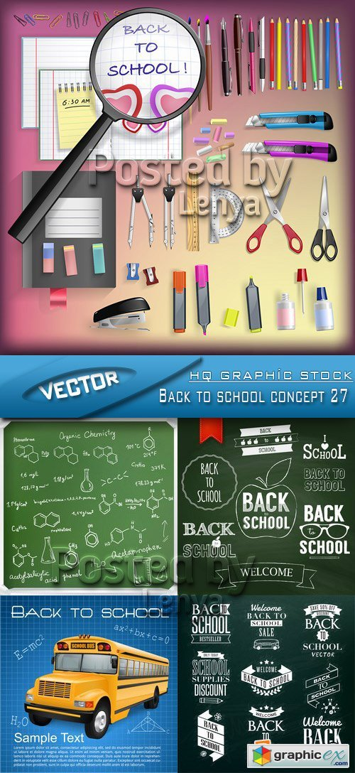 Stock Vector - Back to school concept 27