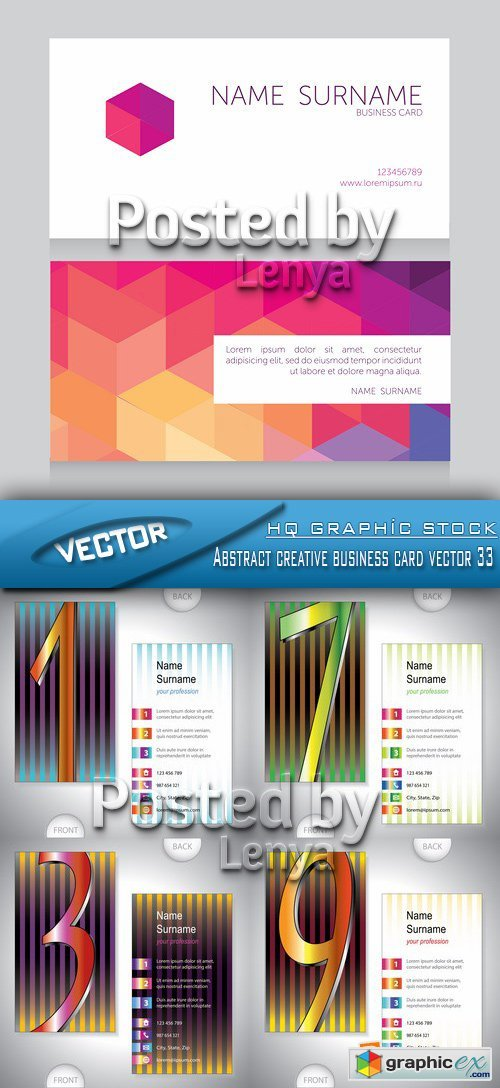 Stock Vector - Abstract creative business card vector 33
