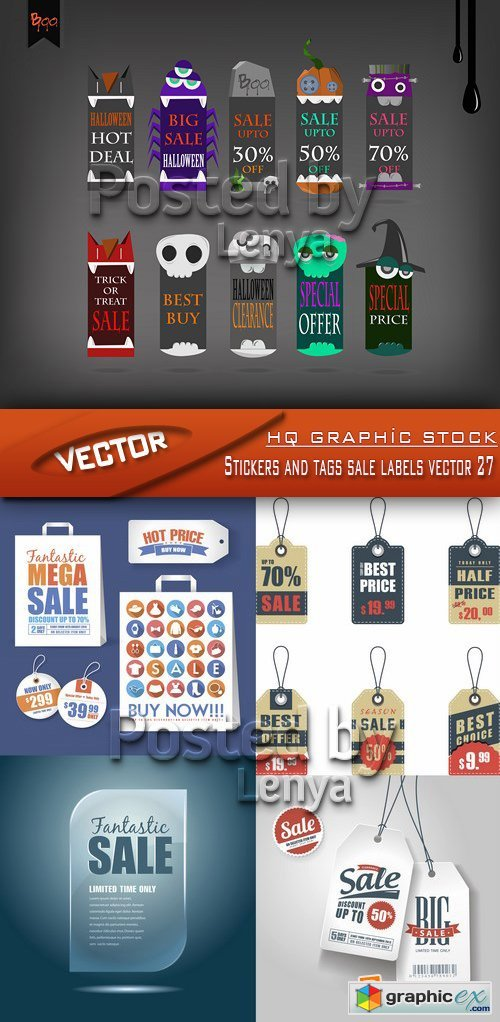Stock Vector - Stickers and tags sale labels vector 27