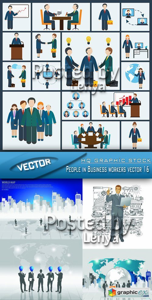Stock Vector - People in Business workers vector 16