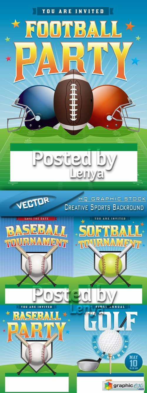 Stock Vector - Creative Sports Backround