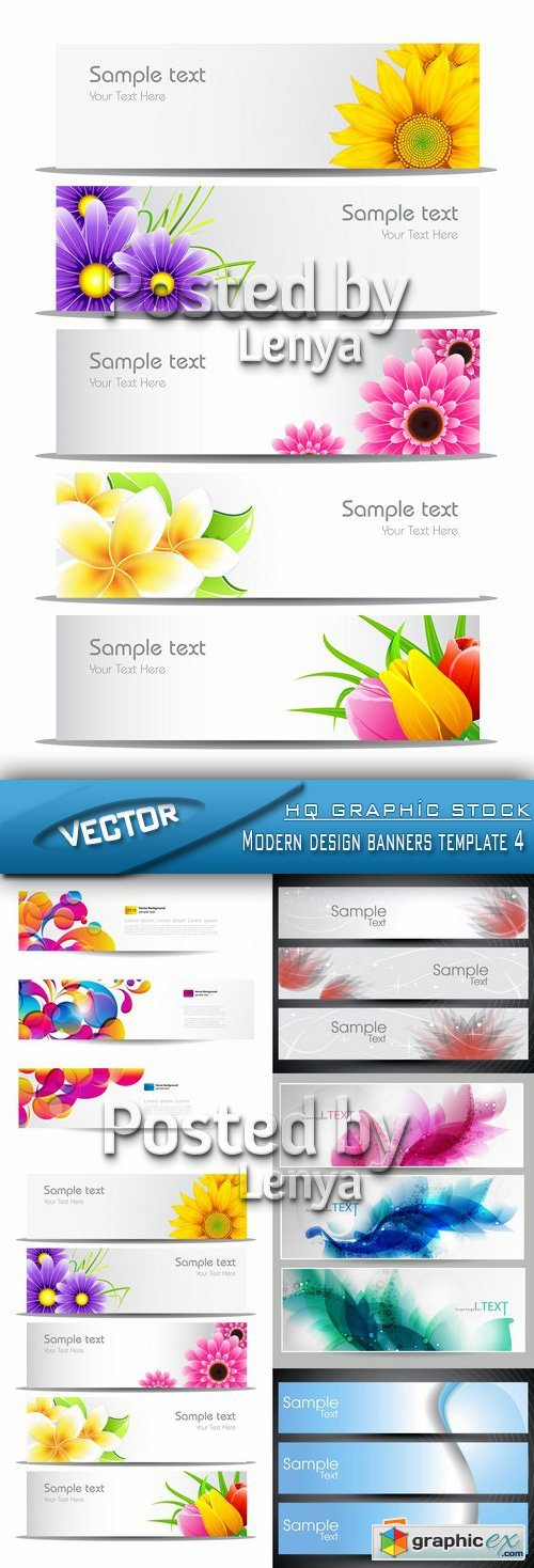 Stock Vector - Modern design banners template 4