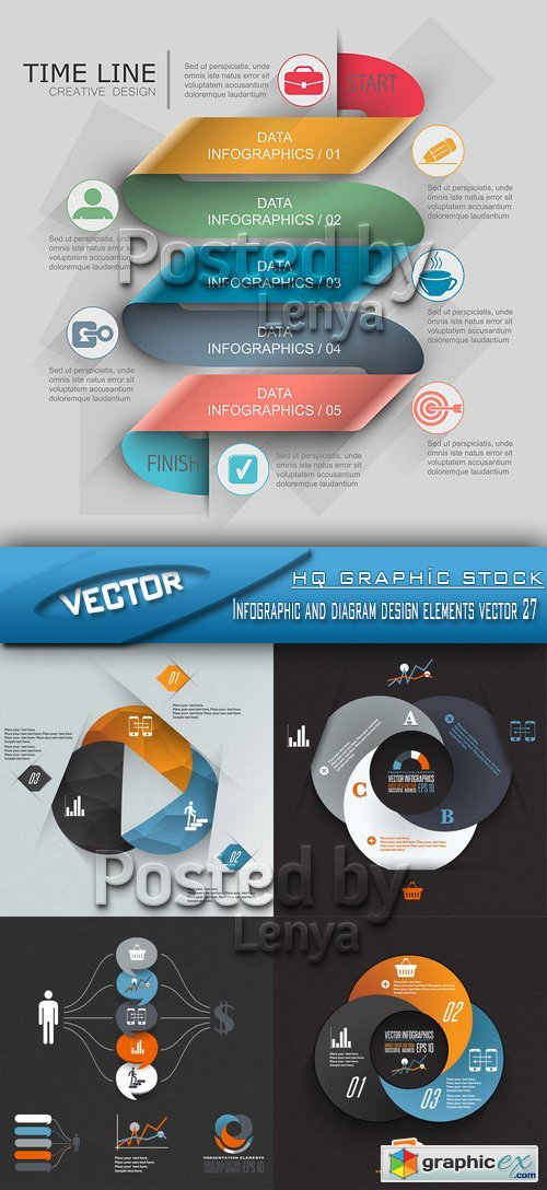 Stock Vector - Infographic and diagram design elements vector 27