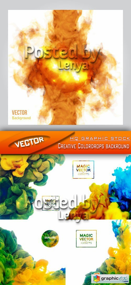Stock Vector - Creative Colordrops backround