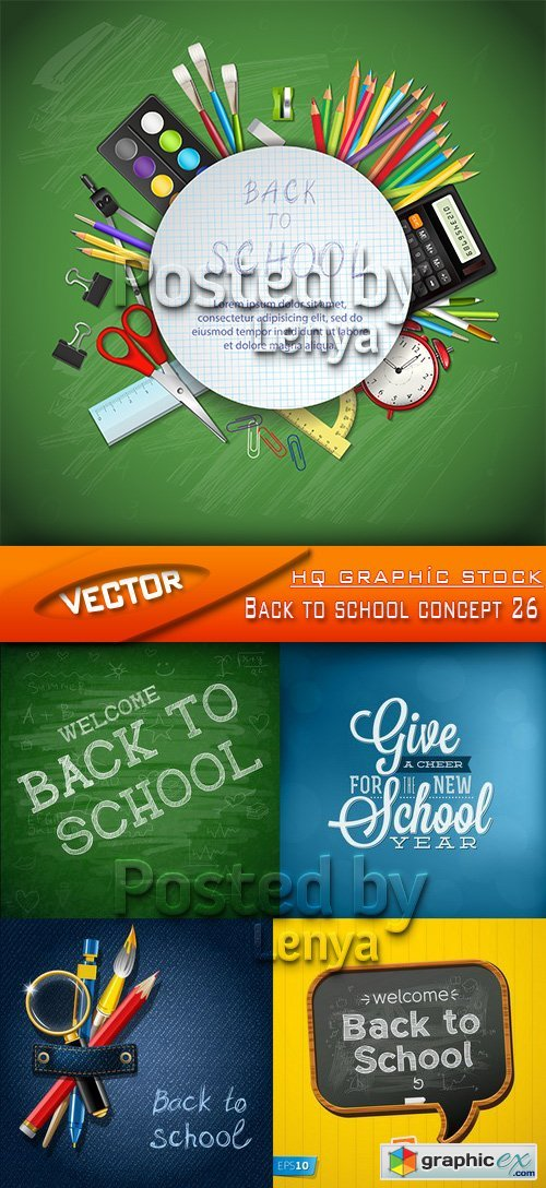Stock Vector - Back to school concept 26