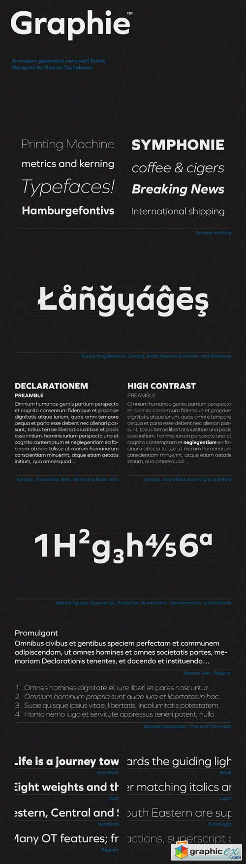 Graphie Font Family - 16 Fonts for $300
