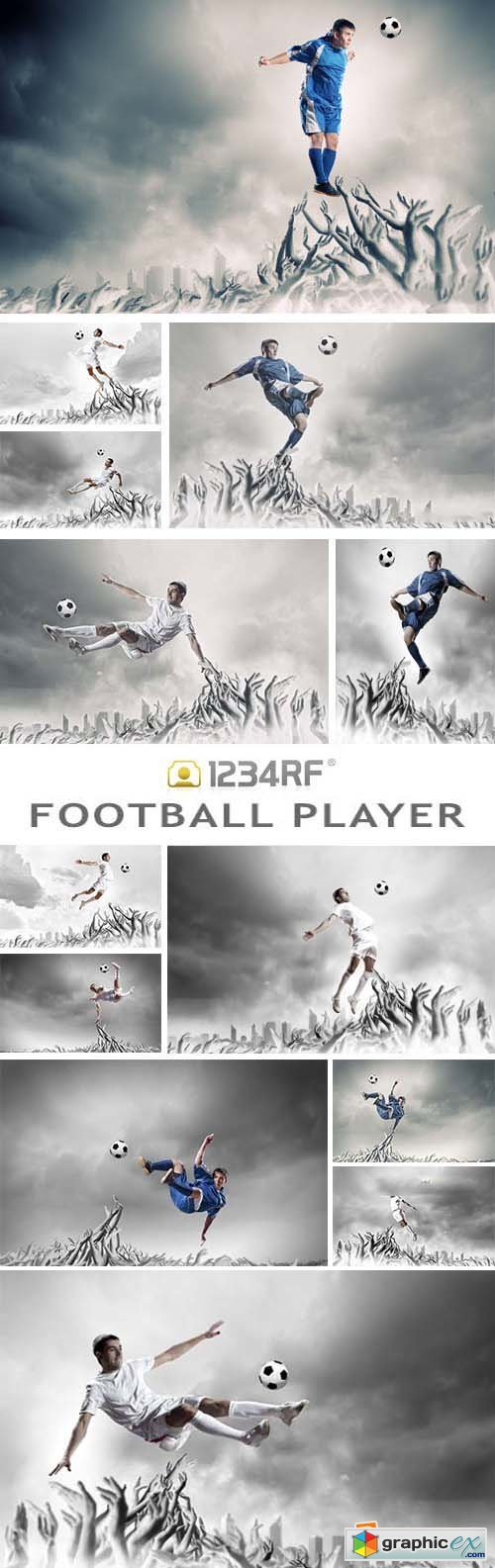 Football Player In Jump - 26xJPG