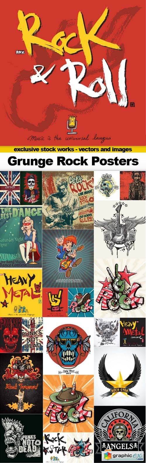 Grunge Rock Posters - 25x EPS