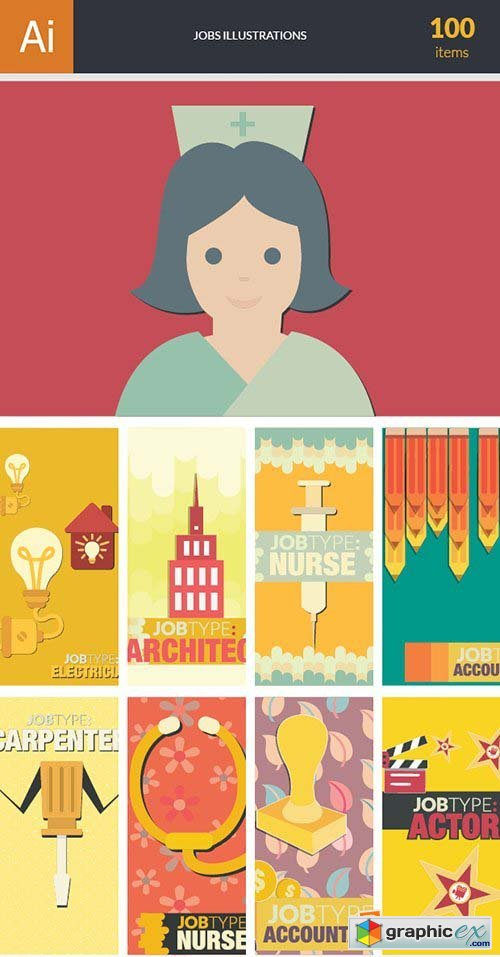 Jobs Vector Bundle 100xEPS