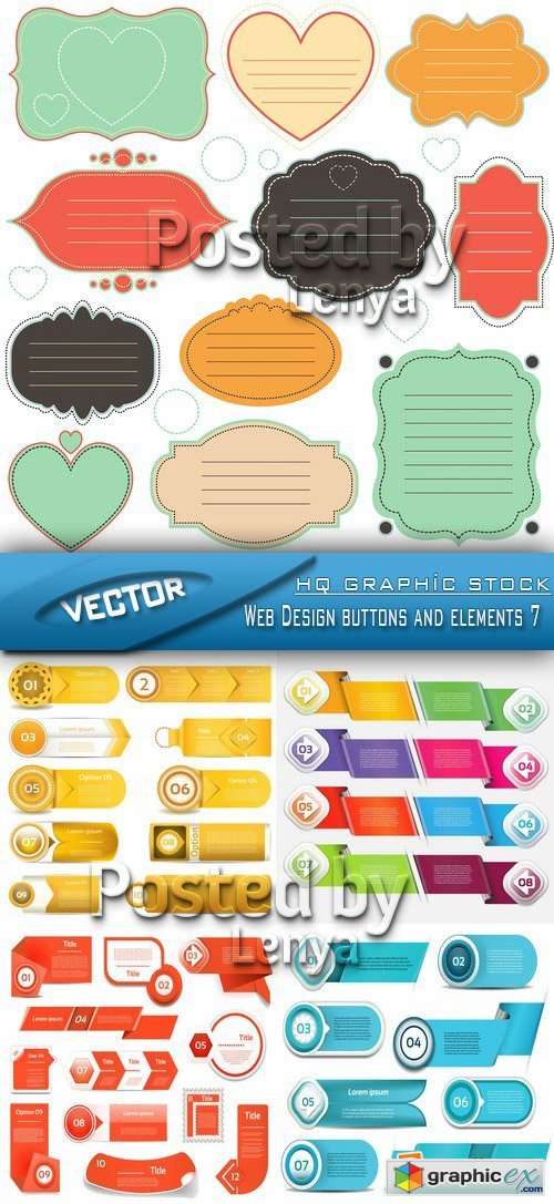 Stock Vector - Web Design buttons and elements 7