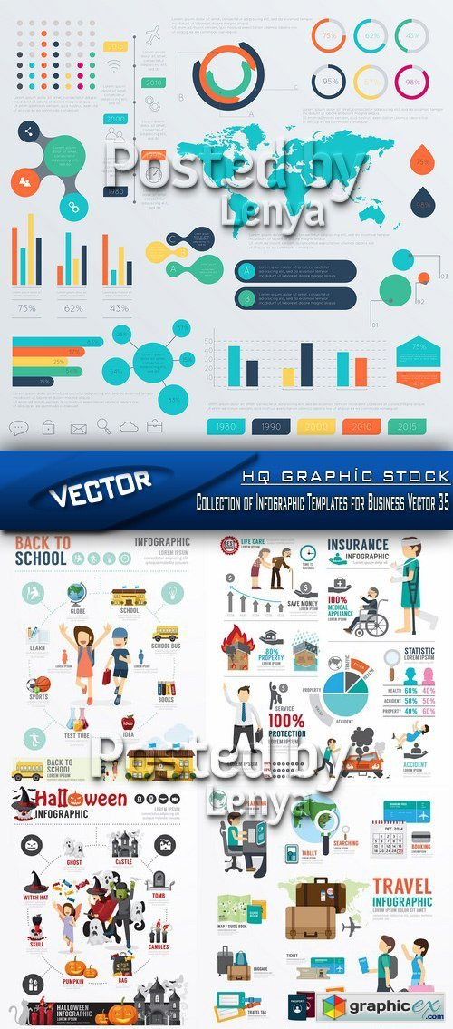 Stock Vector - Collection of Infographic Templates for Business Vector 35