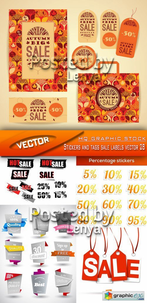 Stock Vector - Stickers and tags sale labels vector 28