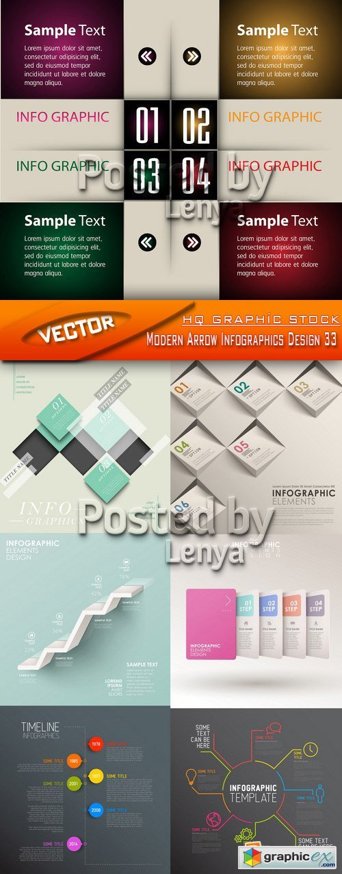 Stock Vector - Modern Arrow Infographics Design 33