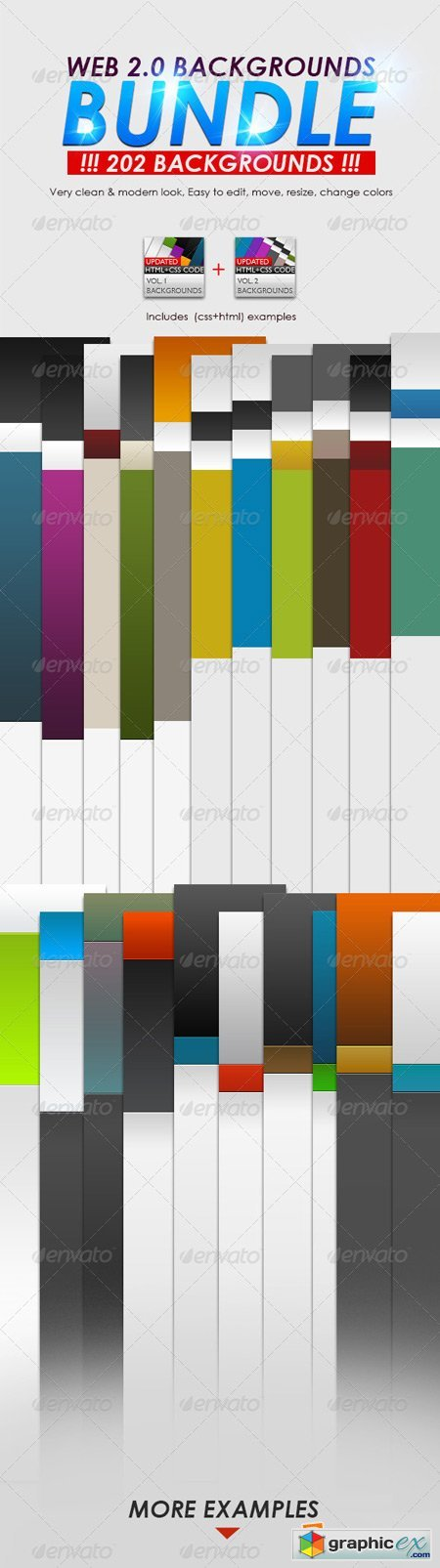 Web 2.0 Backgrounds Bundle 5123666