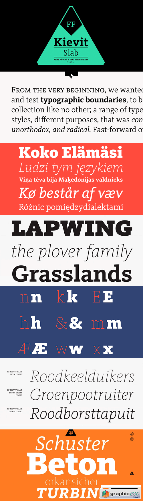 FF Kievit Slab Font Family - 18 Fonts for $659