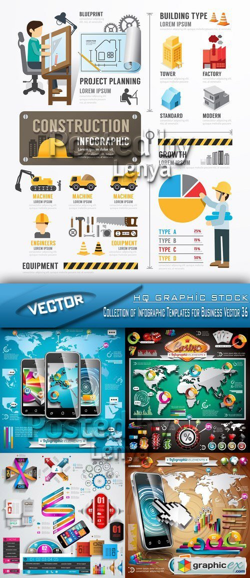 Stock Vector - Collection of Infographic Templates for Business Vector 36