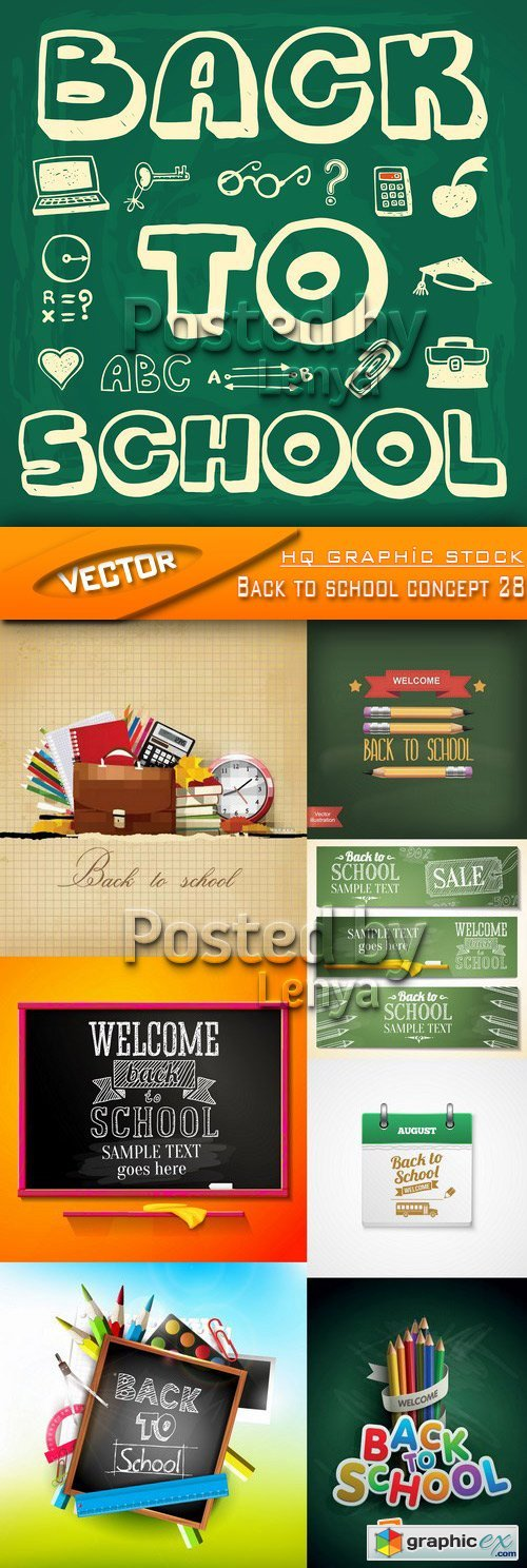 Stock Vector - Back to school concept 28