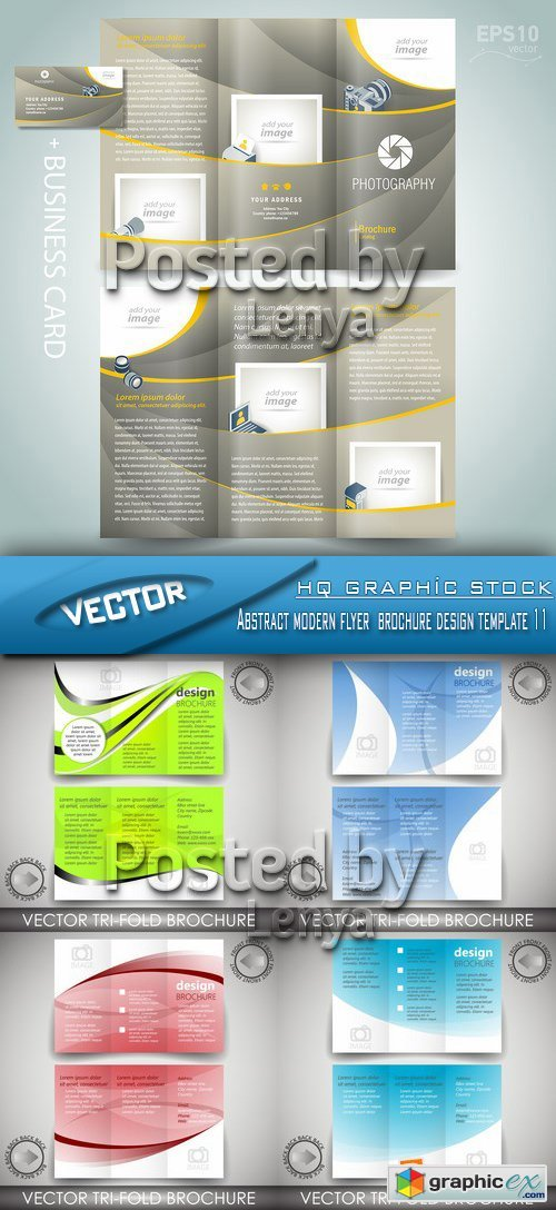 Stock Vector - Abstract modern flyer  brochure design template 11