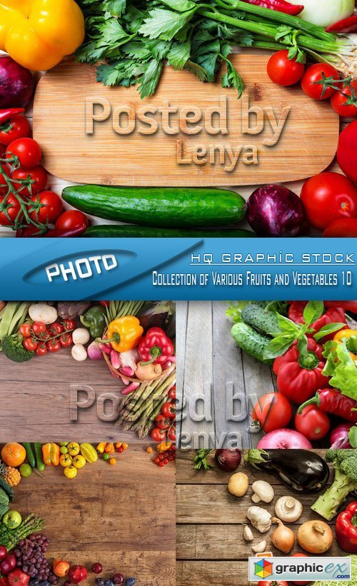 Stock Photo - Collection of Various Fruits and Vegetables 10