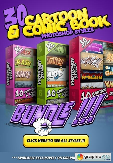 Cartoon and Comic Book Styles Bundle 2 8781248