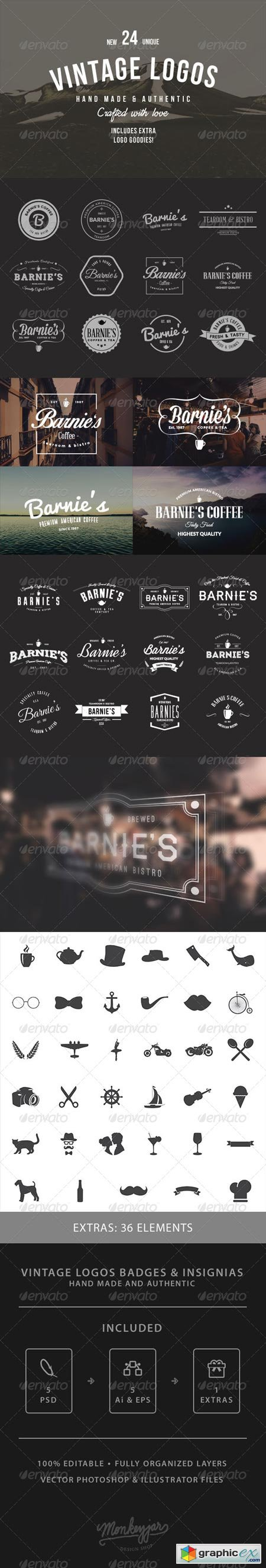 24 Old-School Logos & Badges 8470313