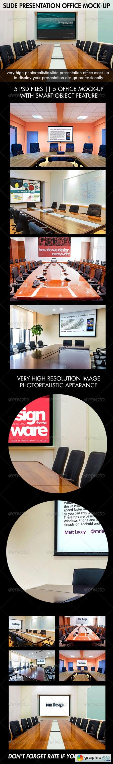 Slide Presentation Office Mock-Up 8737289
