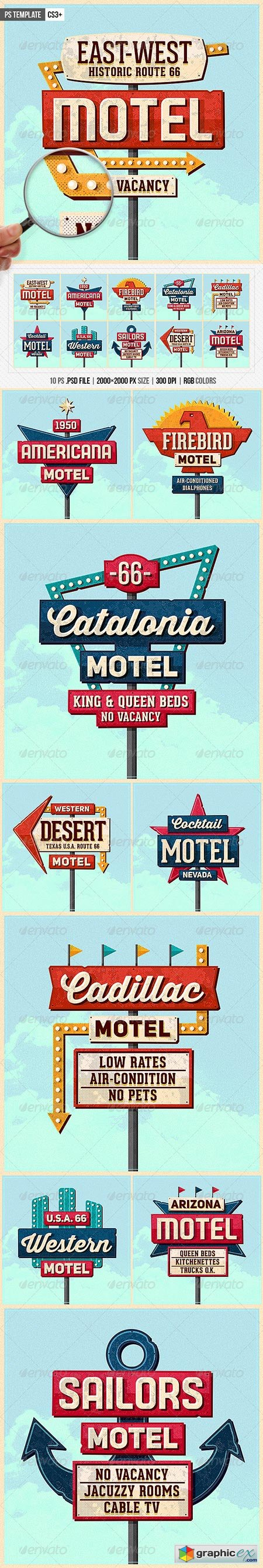 Vintage Motel Sign Pack 8676739