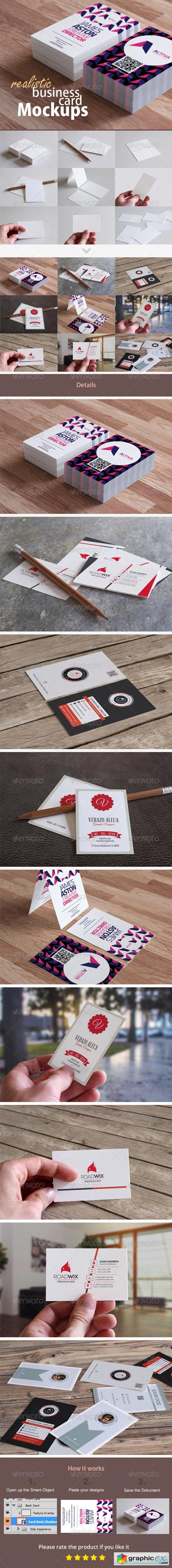 Realistic Business Card Mockups 8687286