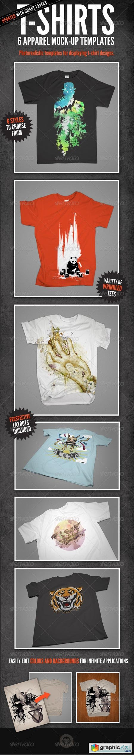T-Shirt Mock-Ups - Apparel Design 140080