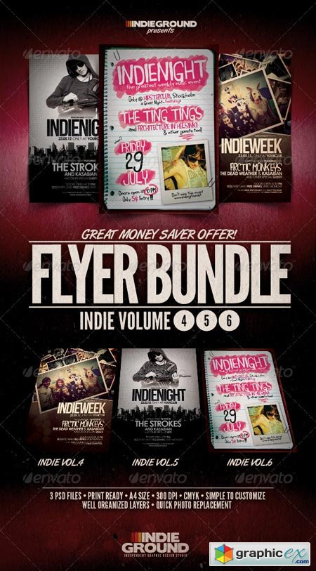 Indie Flyer Poster Bundle Vol. 4-6 240570