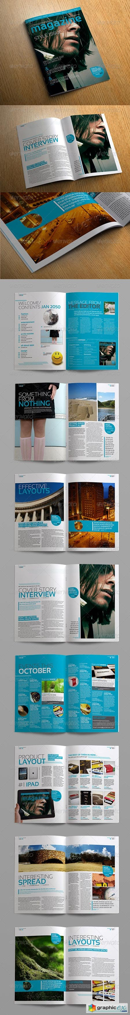 Stylish InDesign Magazine Template 264182