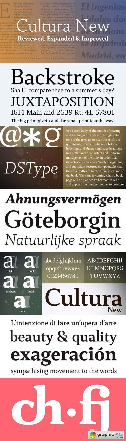Cultura New Font Family - 10 Fonts for $240