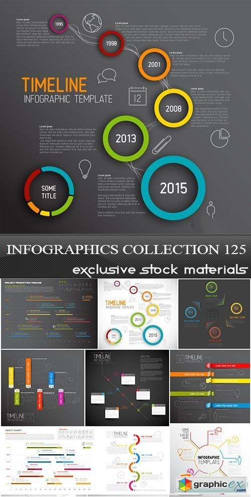 Collection of infographics vol.125, 25xEPS