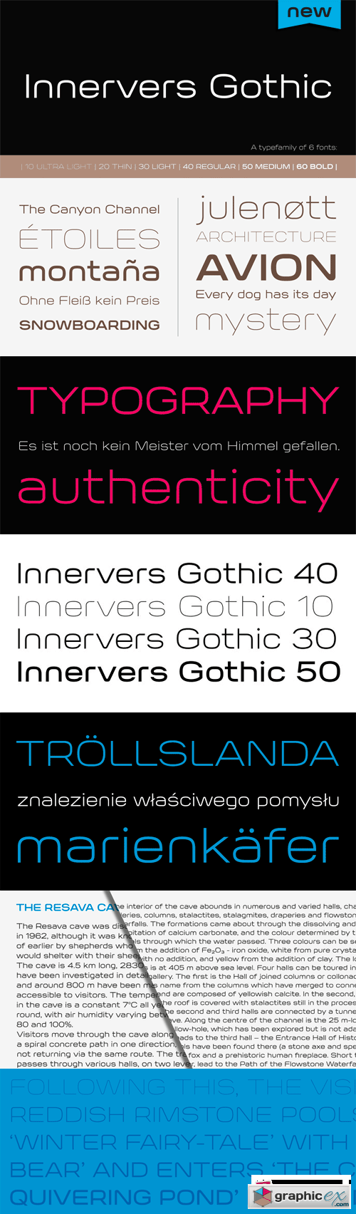 Innervers Gothic Font Family - 6 Fonts for $104