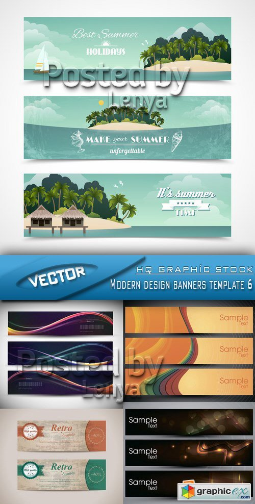 Stock Vector - Modern design banners template 6