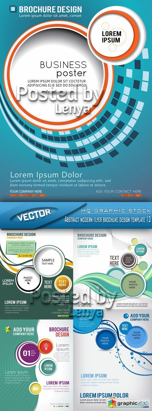 Stock Vector - Abstract modern flyer brochure design template 13