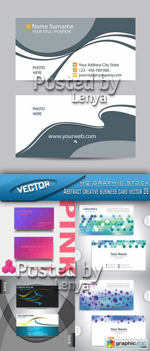 Stock Vector - Abstract creative business card vector 35