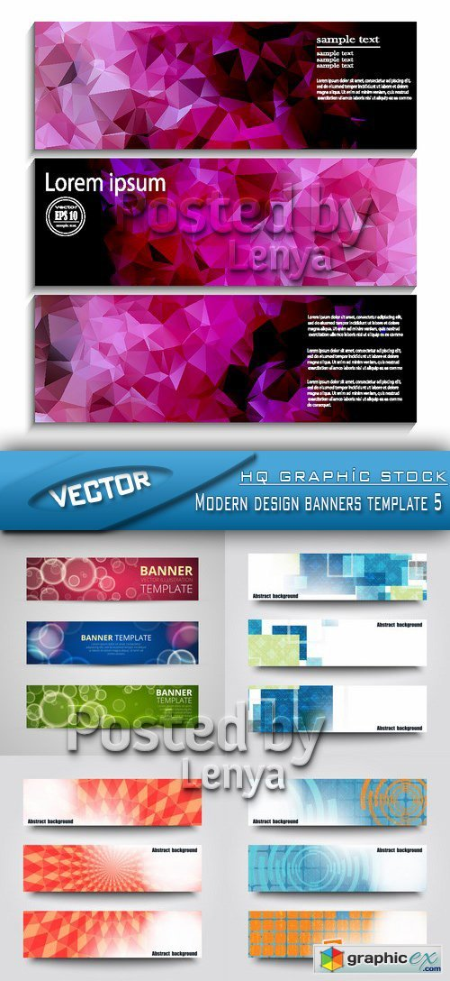 Stock Vector - Modern design banners template 5