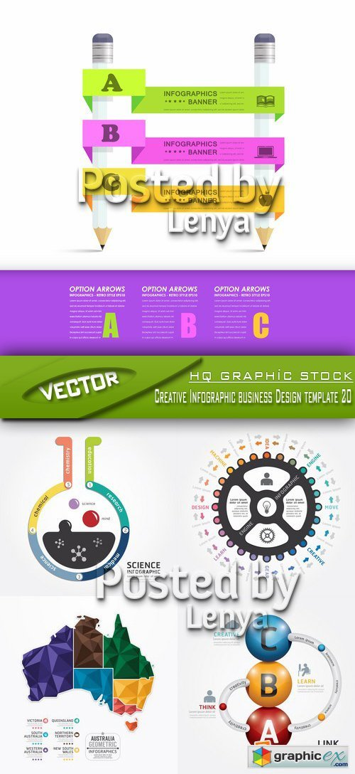 Stock Vector - Creative Infographic business Design template 20
