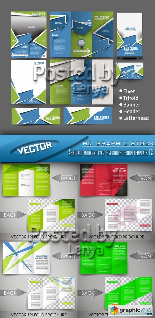 Stock Vector - Abstract modern flyer brochure design template 12