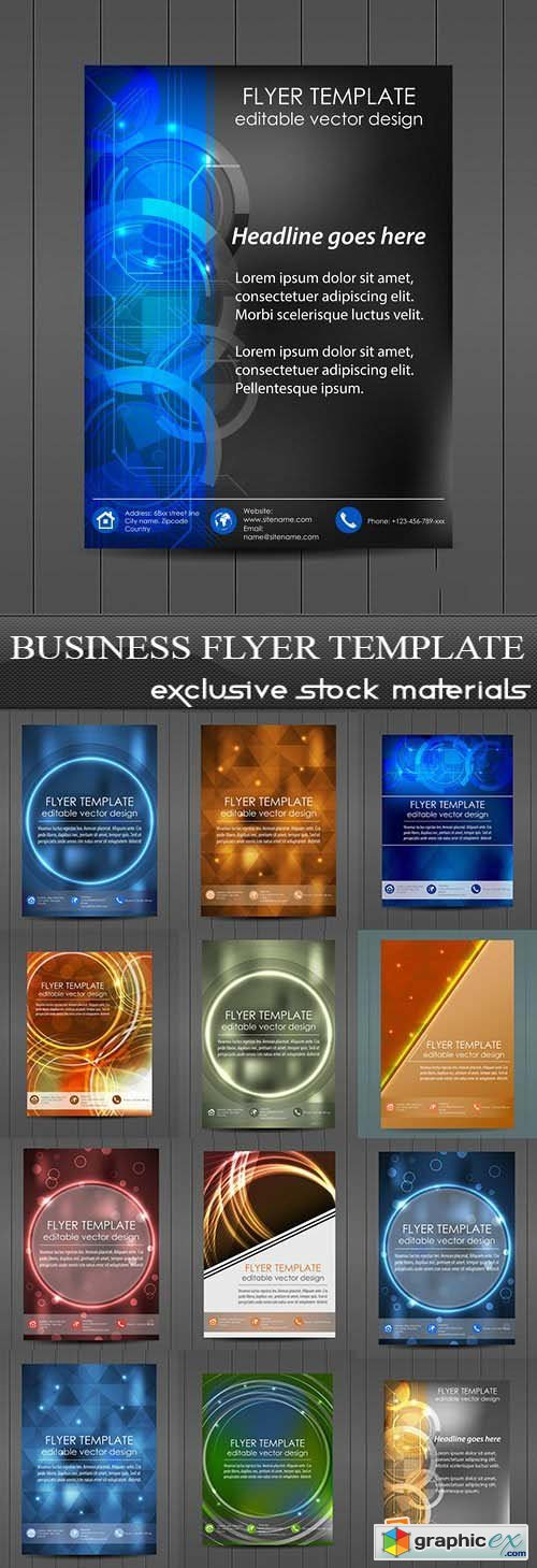 Business Flyer Template, 25xEPS