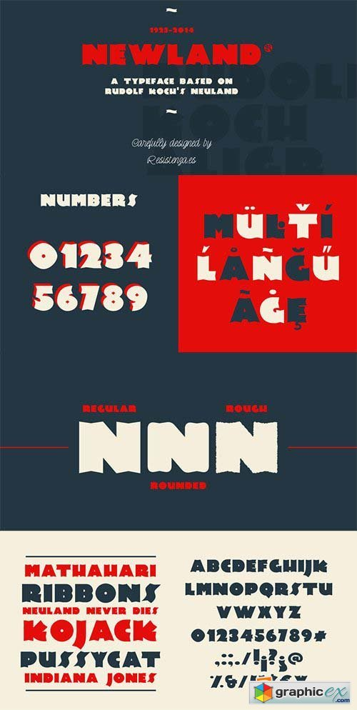 Newland Font Family - 3 Font $117