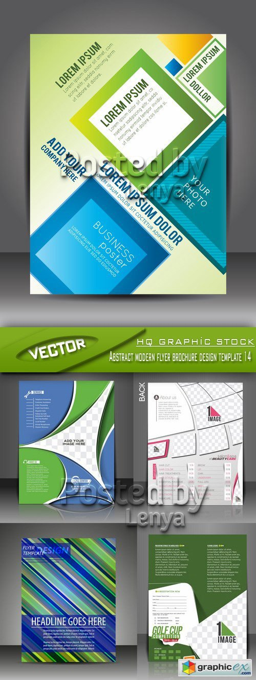 Stock Vector - Abstract modern flyer brochure design template 14