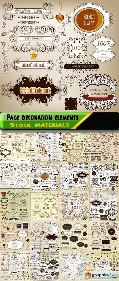 Page decoration elements and labels design 2 25xAI