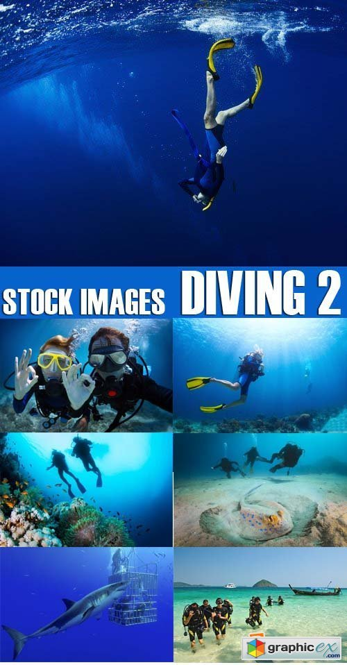 Stock Photos - Diving 2, 25xJPG