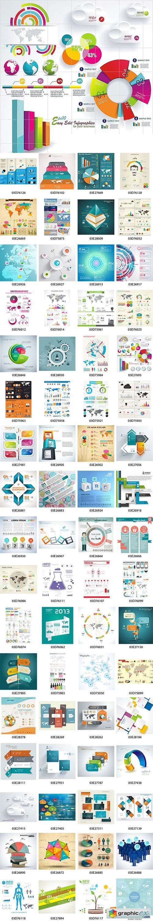 100 Premium Infographics V2 from Ingimage