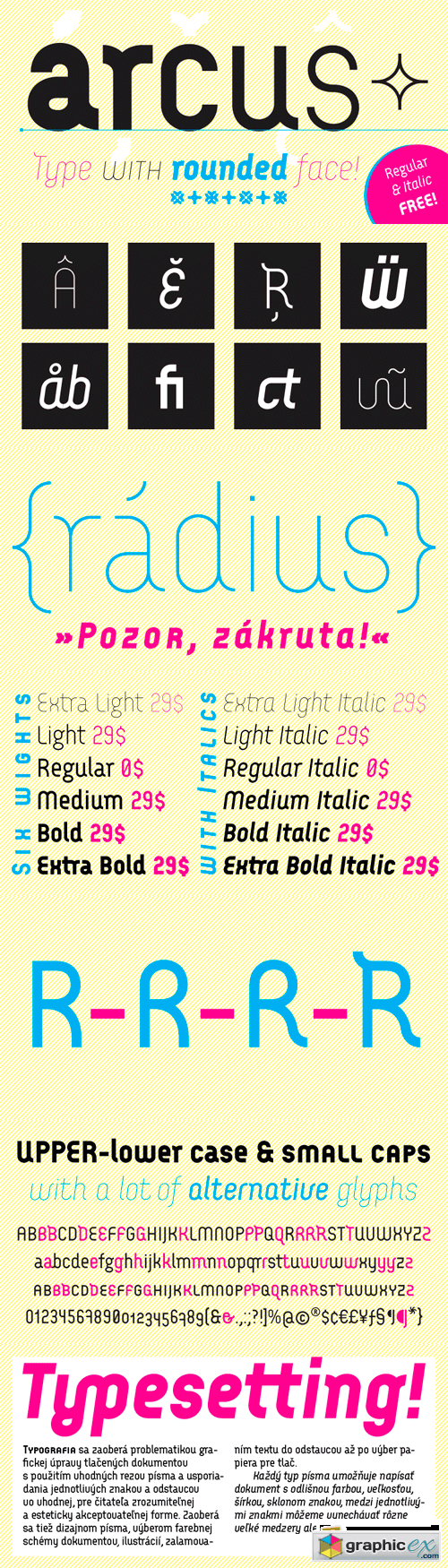 Arcus Font Family - 12 Fonts for $180