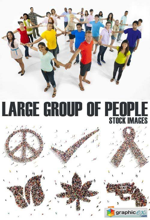 Stock Photos - Large group of people, 25xJPG