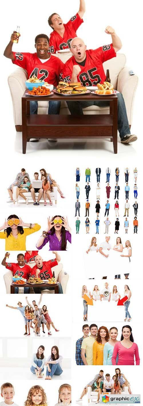 Stock Photos - People Isolated
