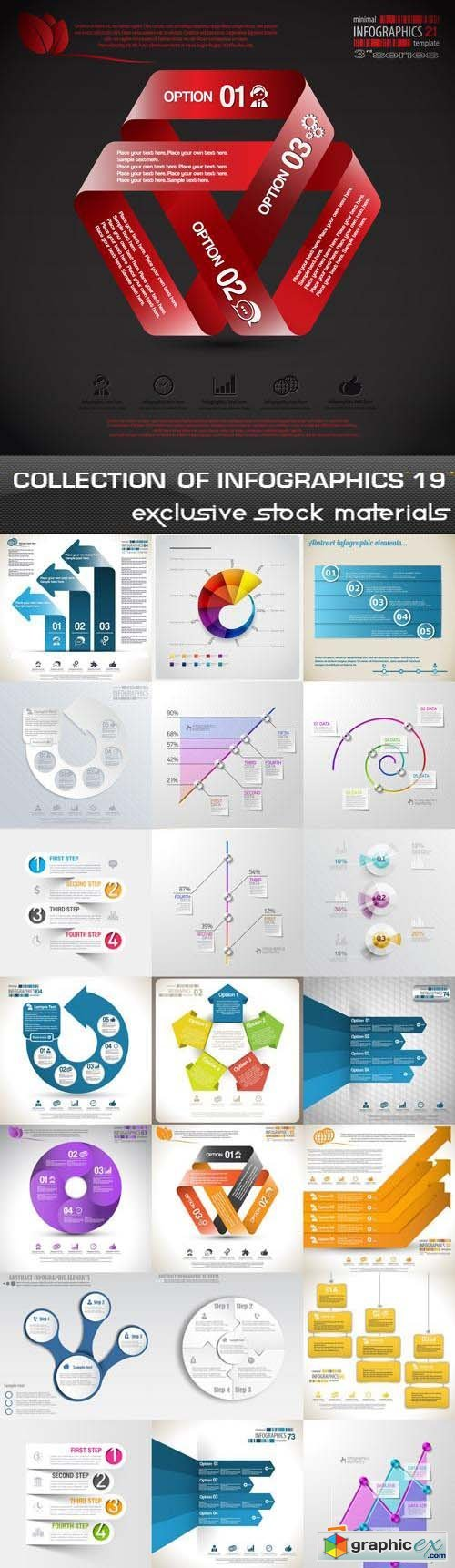 Collection of Infographics Vol.19, 25xEPS